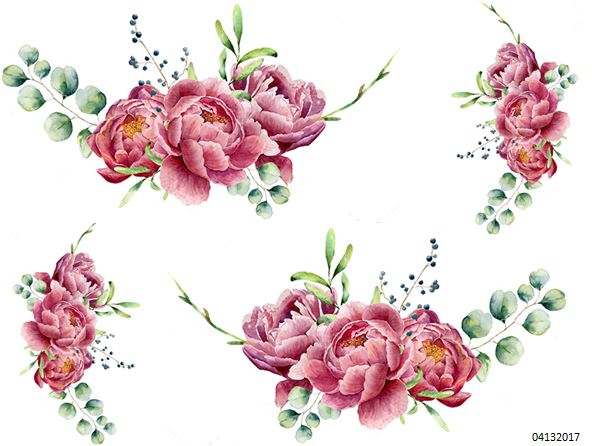 XL TRiPLe PeoNy SWaGs SHaBbY WaTerSLiDe DeCALs ~FuRNiTuRe SiZe~ | Designs  By Iris